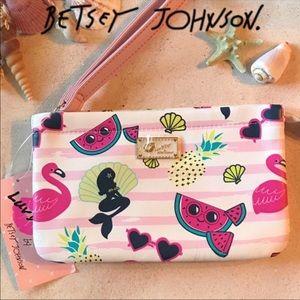 Betsey Johnson Flamingo Wristlet